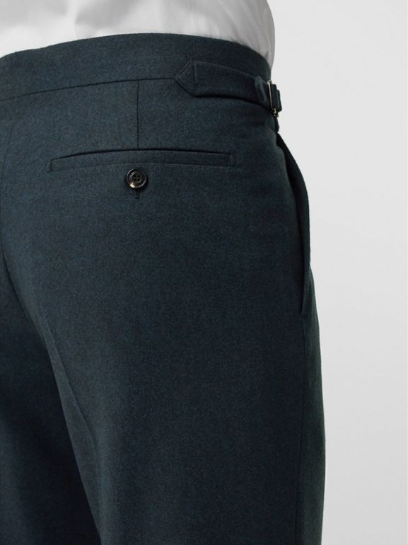 Classic Fit Wool Cashmere Tailored Trousers in Blue - Men | Burberry United Kingdom - cell image 1