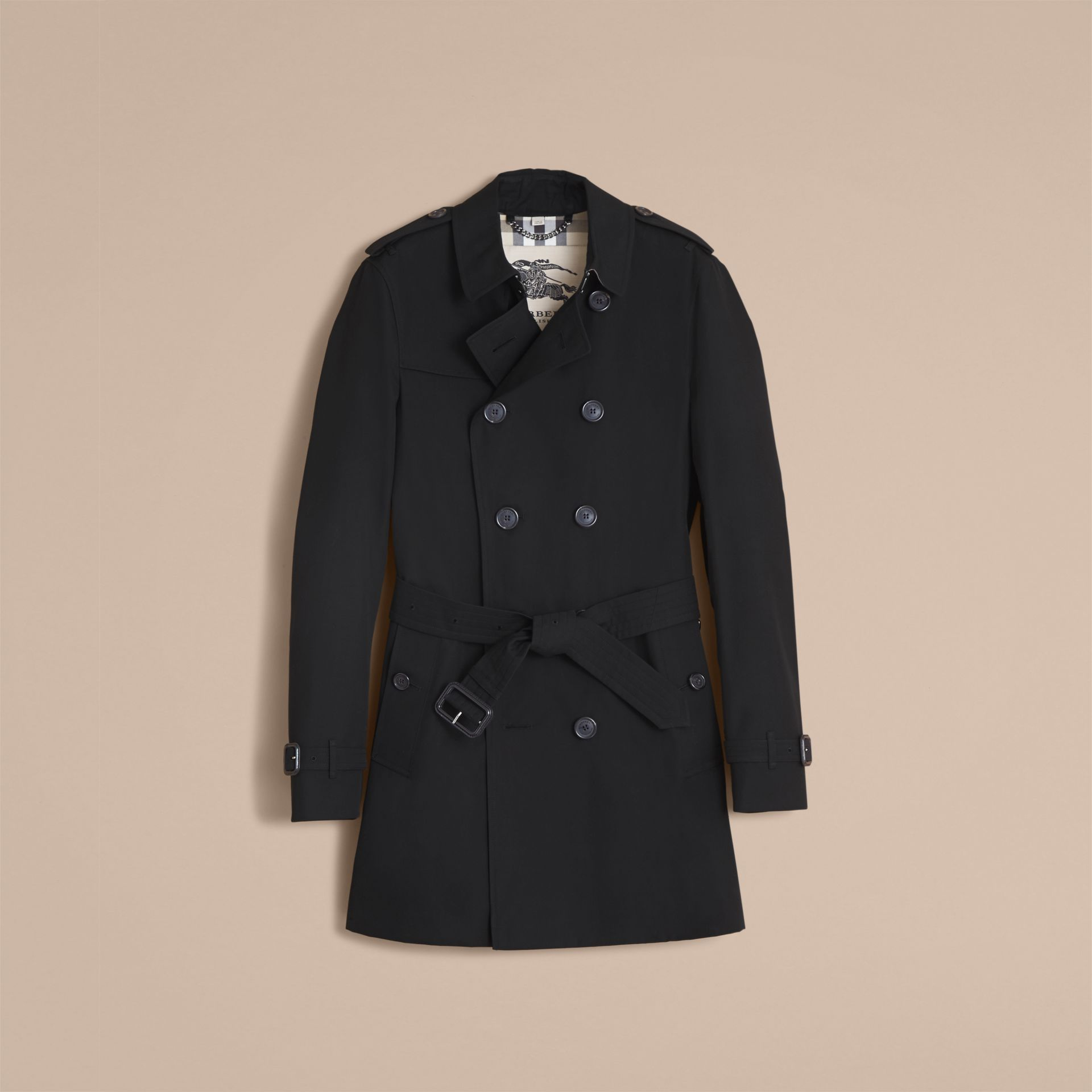 Black The Chelsea – Mid-length Heritage Trench Coat Black - gallery image 5
