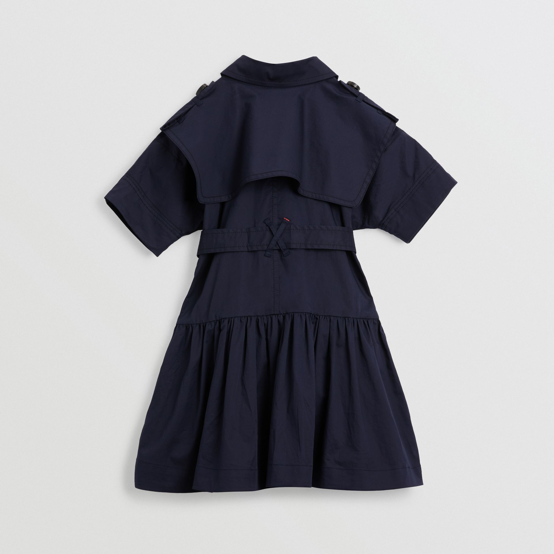 Stretch Cotton Trench Dress in Midnight | Burberry - gallery image 3
