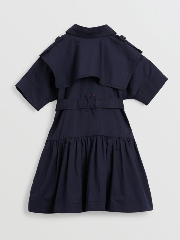 Stretch Cotton Trench Dress in Midnight | Burberry United Kingdom - cell image 3