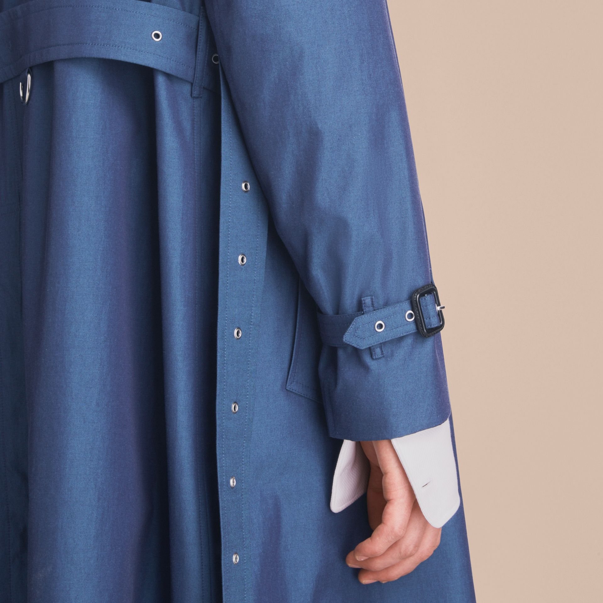 Tropical Gabardine Cotton Trench Coat - gallery image 7