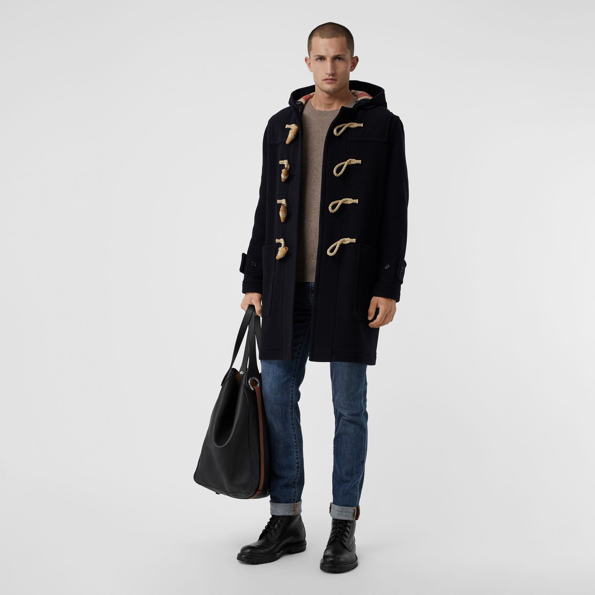 The Greenwich Duffle Coat in Navy - Men | Burberry Canada - gallery image 0