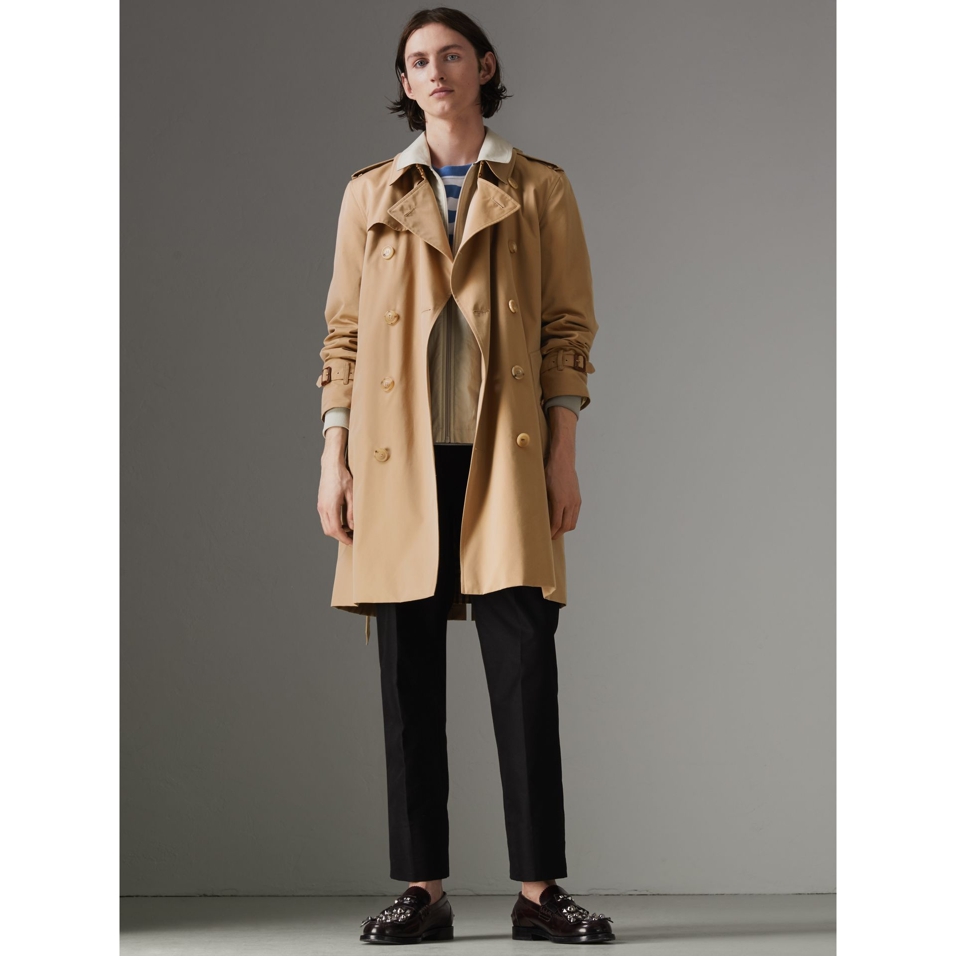 Trench coat Heritage The Kensington (Miele) - Uomo | Burberry - immagine della galleria 8