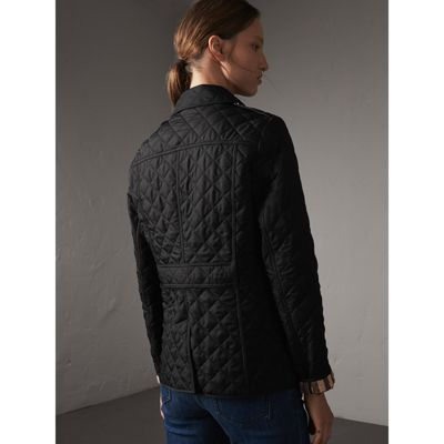 Diamond Quilted Jacket in Black - Women | Burberry United States