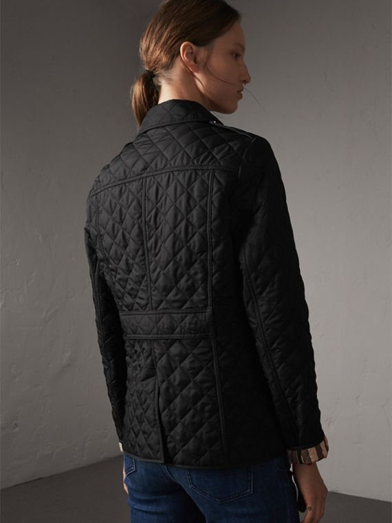 Diamond Quilted Jacket in Black - Women | Burberry Australia - cell image 2