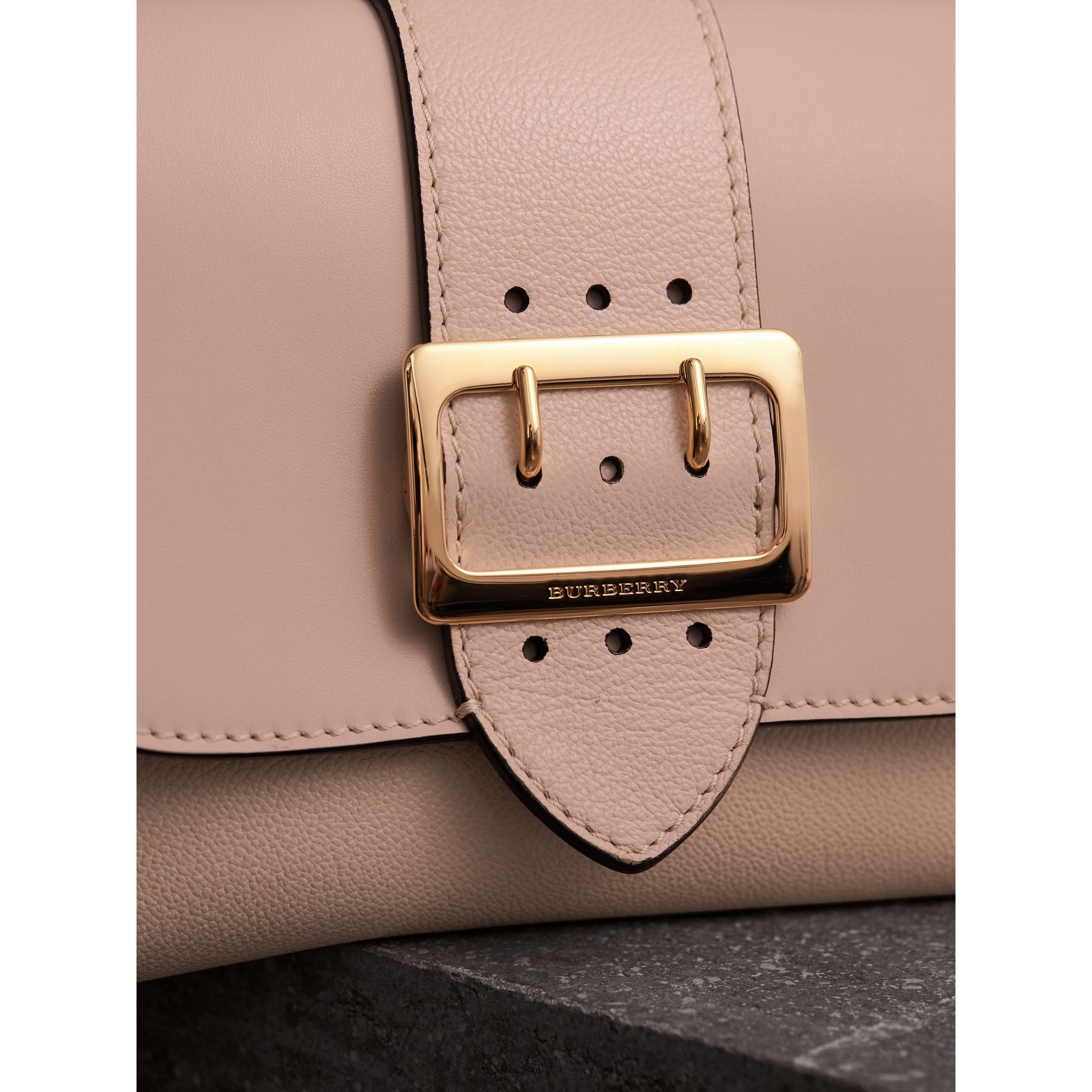 The Buckle Crossbody Bag in Leather in Limestone - Women | Burberry - gallery image 2