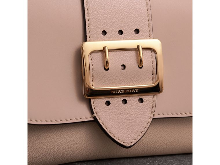 The Buckle Crossbody Bag in Leather in Limestone - Women | Burberry - cell image 1