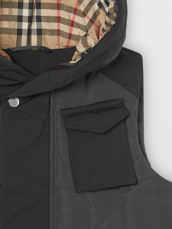 Down-filled Hooded Puffer Gilet in Dark Charcoal | Burberry Canada - cell image 3