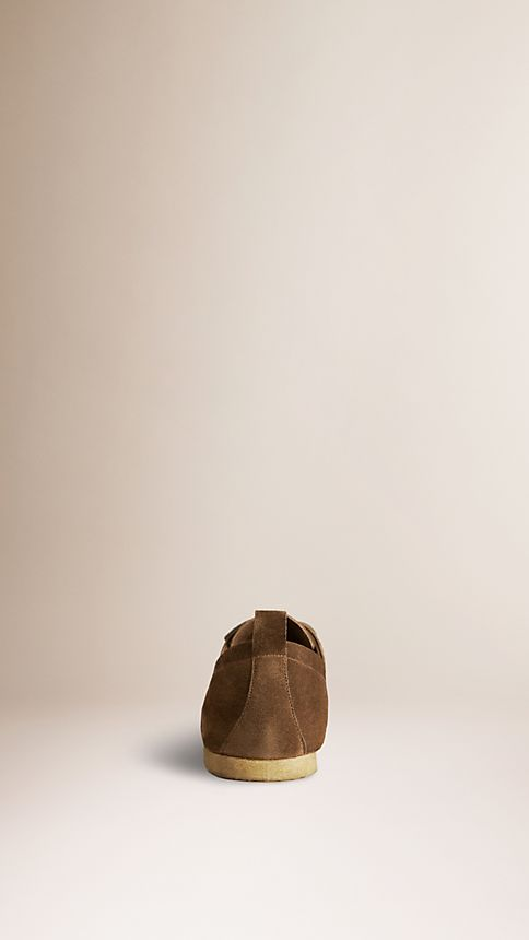 Brown Crepe Sole Suede Shoes - Image 2