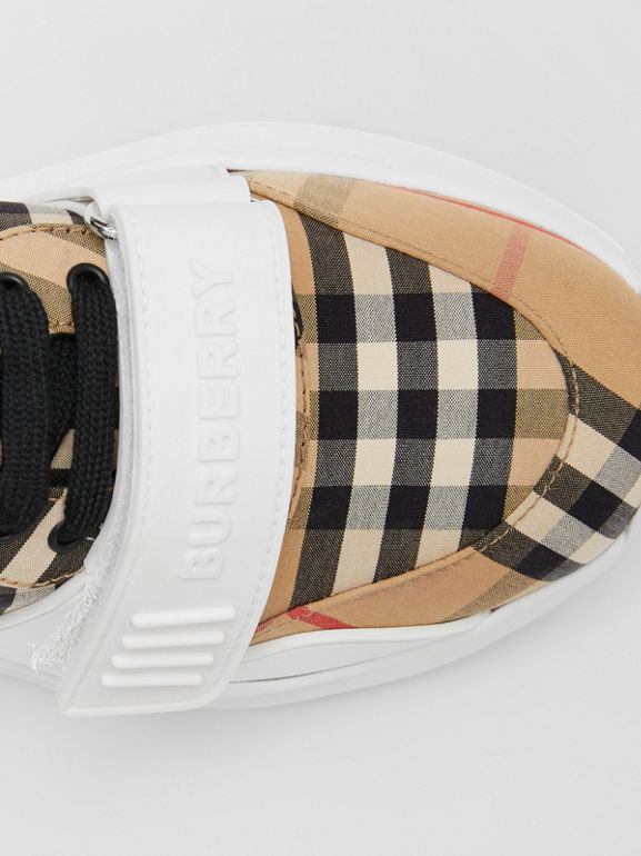Vintage Check Cotton Sneakers in Archive Beige - Women | Burberry United Kingdom - cell image 1