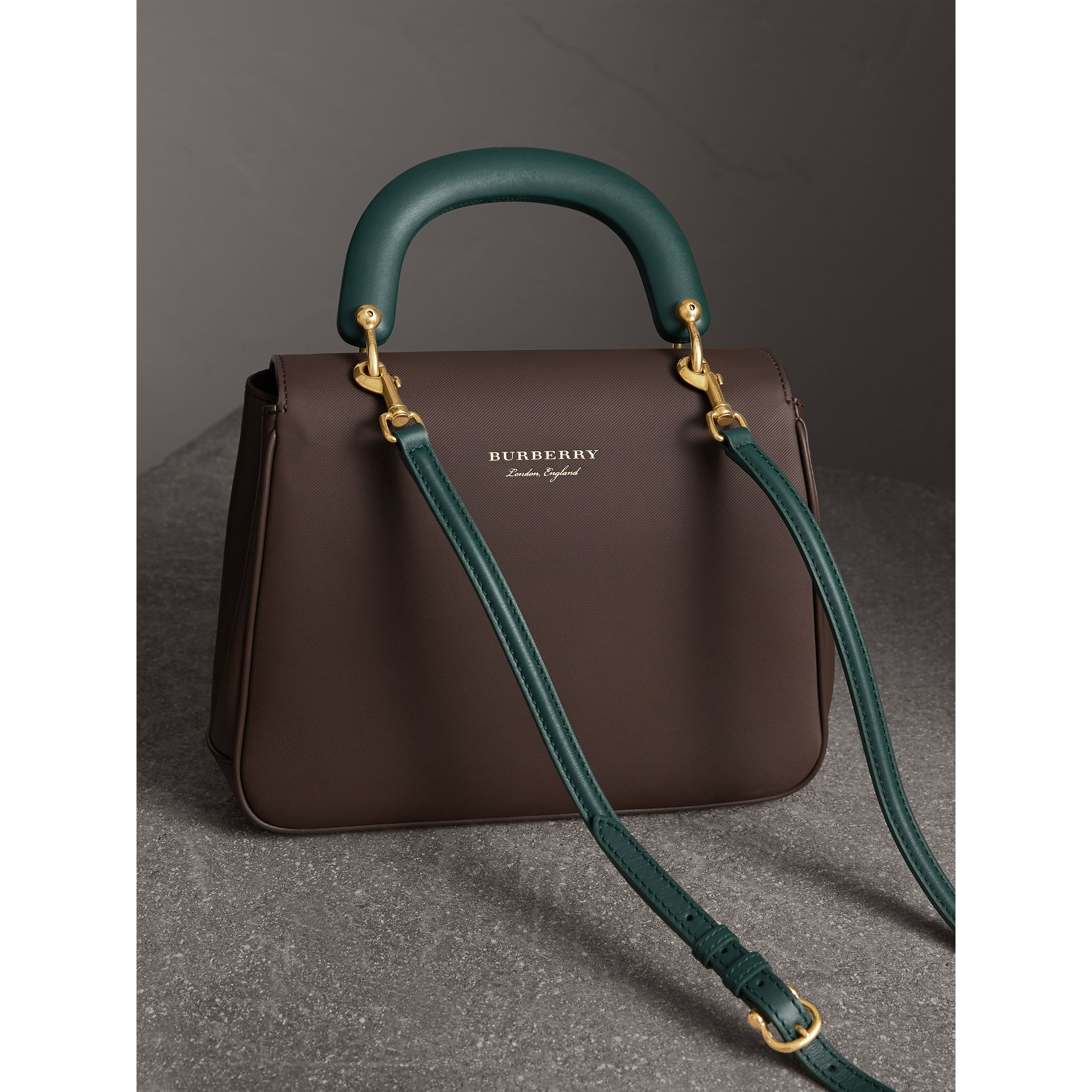 The Medium DK88 Top Handle Bag in Dark Chocolate - Women | Burberry - gallery image 4