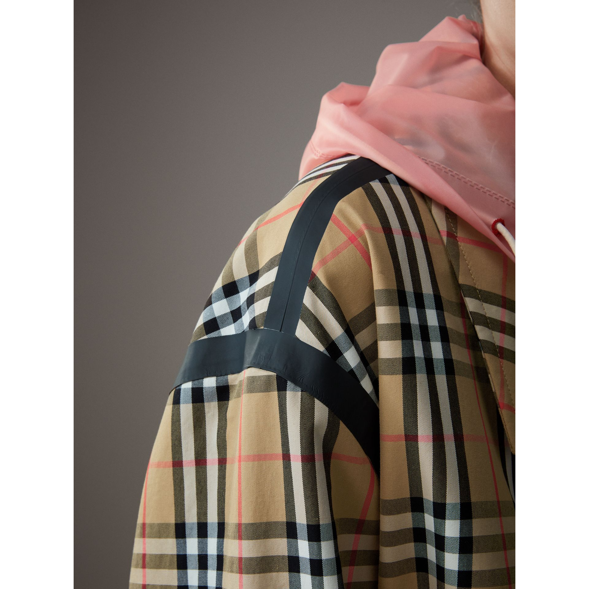 Vintage Check Gabardine Harrington Jacket in Antique Yellow - Women | Burberry - gallery image 7