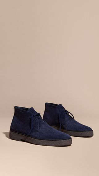 Crepe Sole Suede Desert Boots