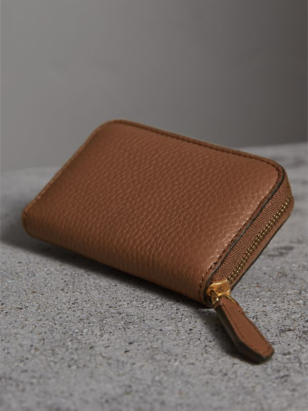 Textured Leather Ziparound Coin Case in Chestnut Brown - Men | Burberry - cell image 2
