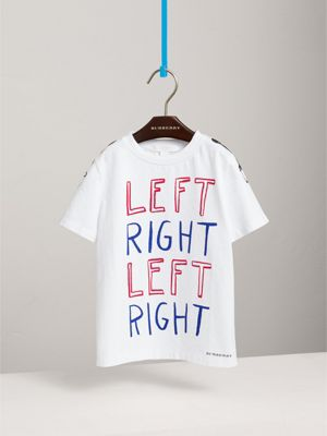 Left Right 印花棉质 T 恤衫