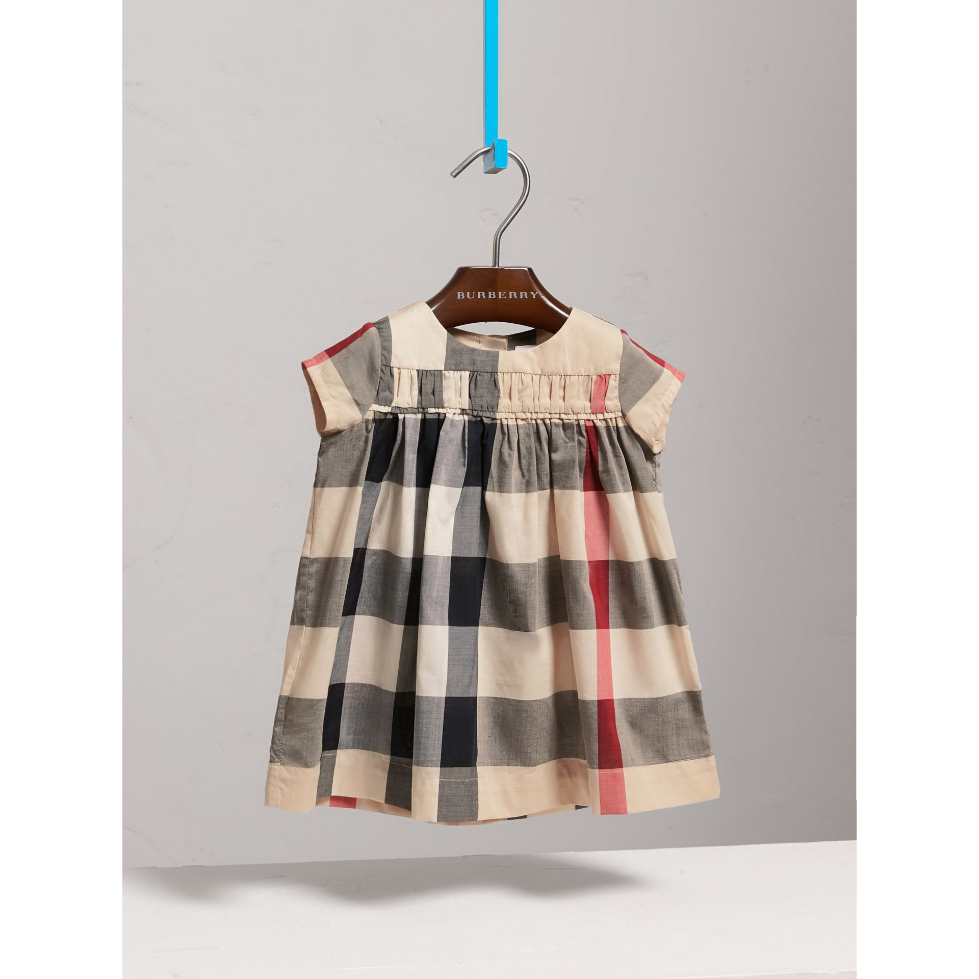 Check Cotton Dress in New Classic - Girl | Burberry Australia - gallery image 2