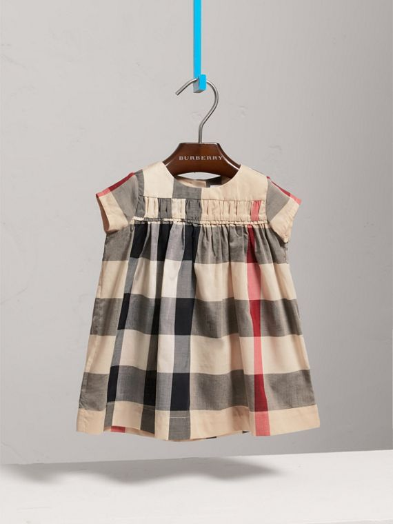 Check Cotton Dress in New Classic - Girl | Burberry - cell image 2