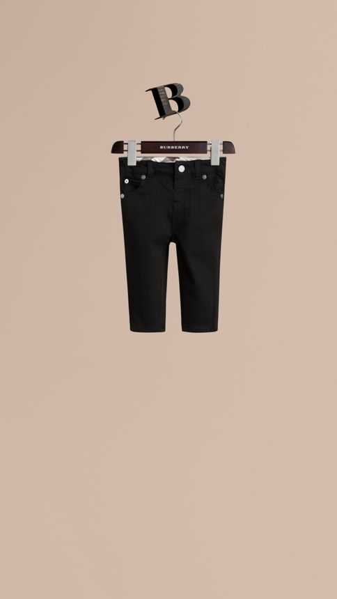 Black Stretch Denim Jeans - Image 1