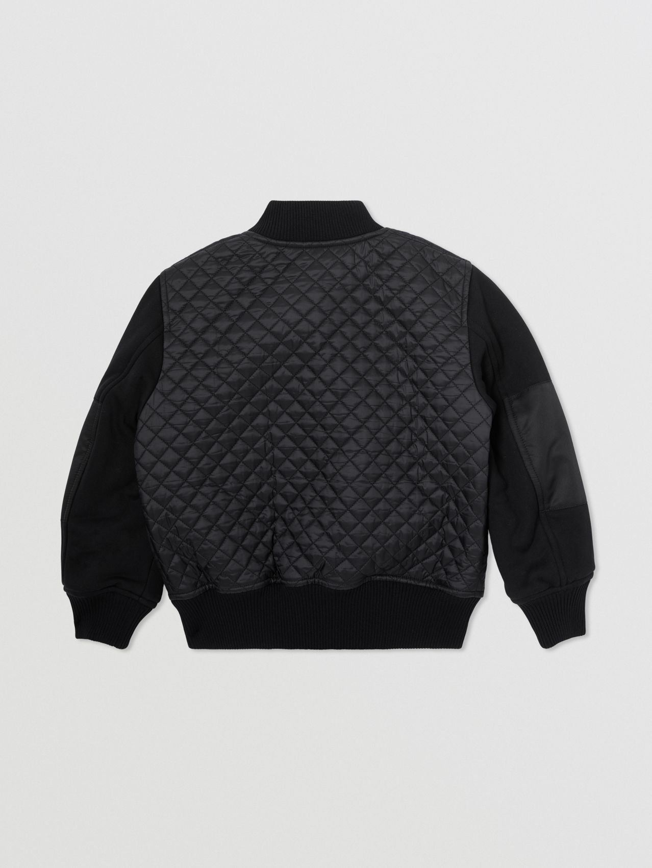 Monogram Quilted Recycled Polyester Bomber Jacket in Black