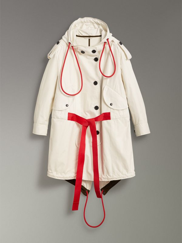 Paper-light Lambskin Parka in Natural White - Women | Burberry - cell image 3