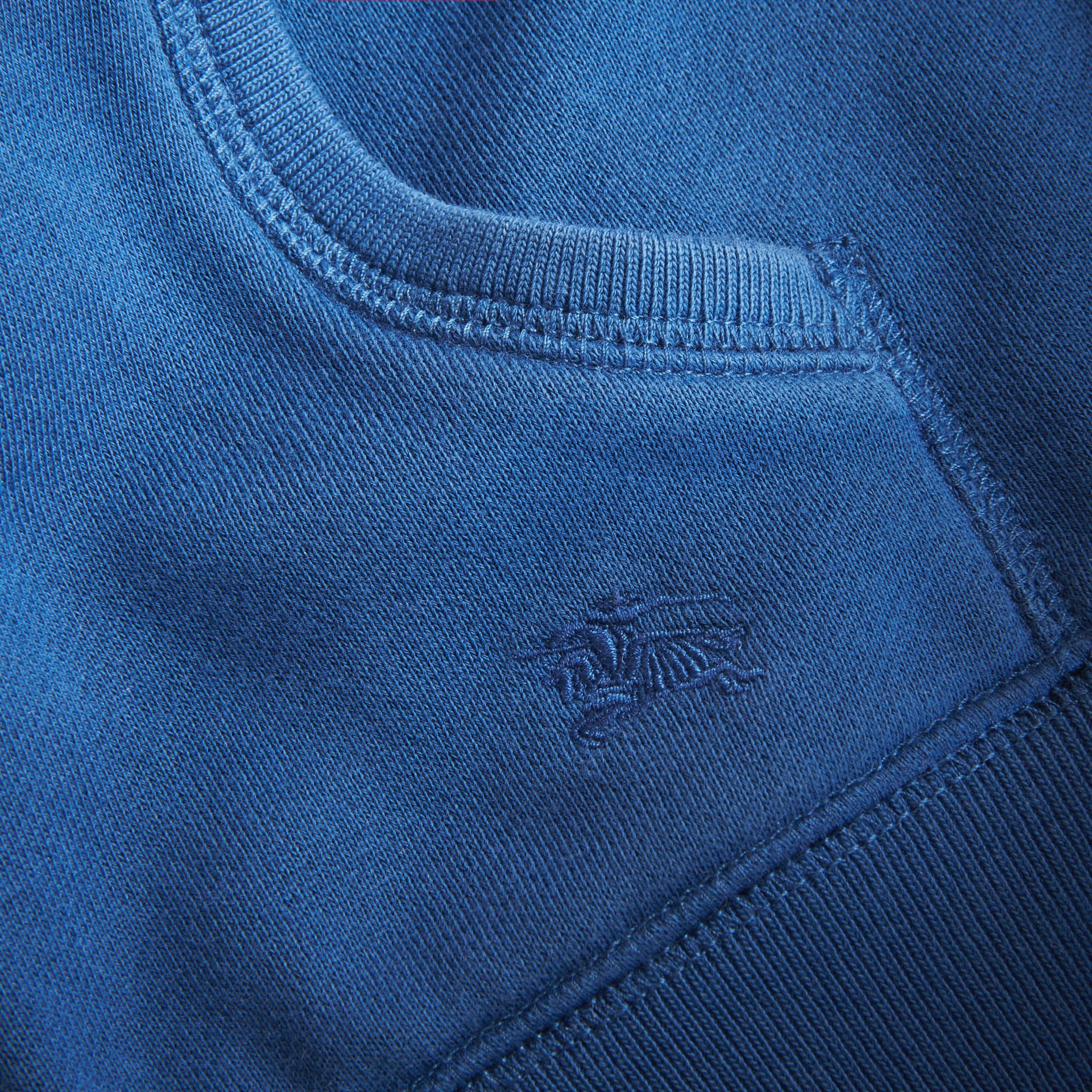 Hooded Cotton Top in Marine Blue - Boy | Burberry - gallery image 2