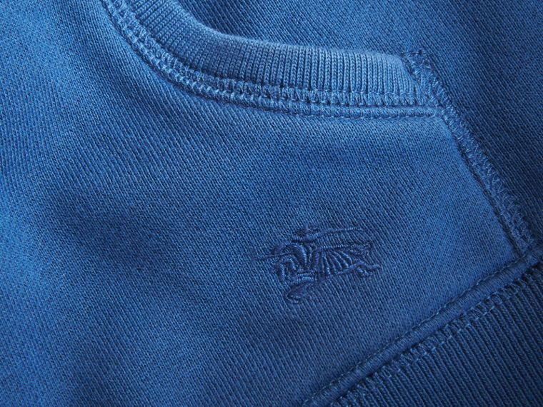 Hooded Cotton Top in Marine Blue - Boy | Burberry - cell image 1