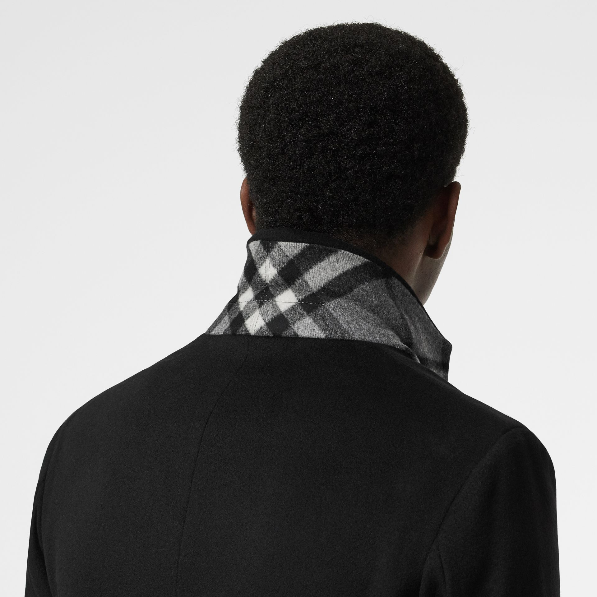 Wool Cashmere Tailored Coat in Black - Men | Burberry United States - gallery image 4