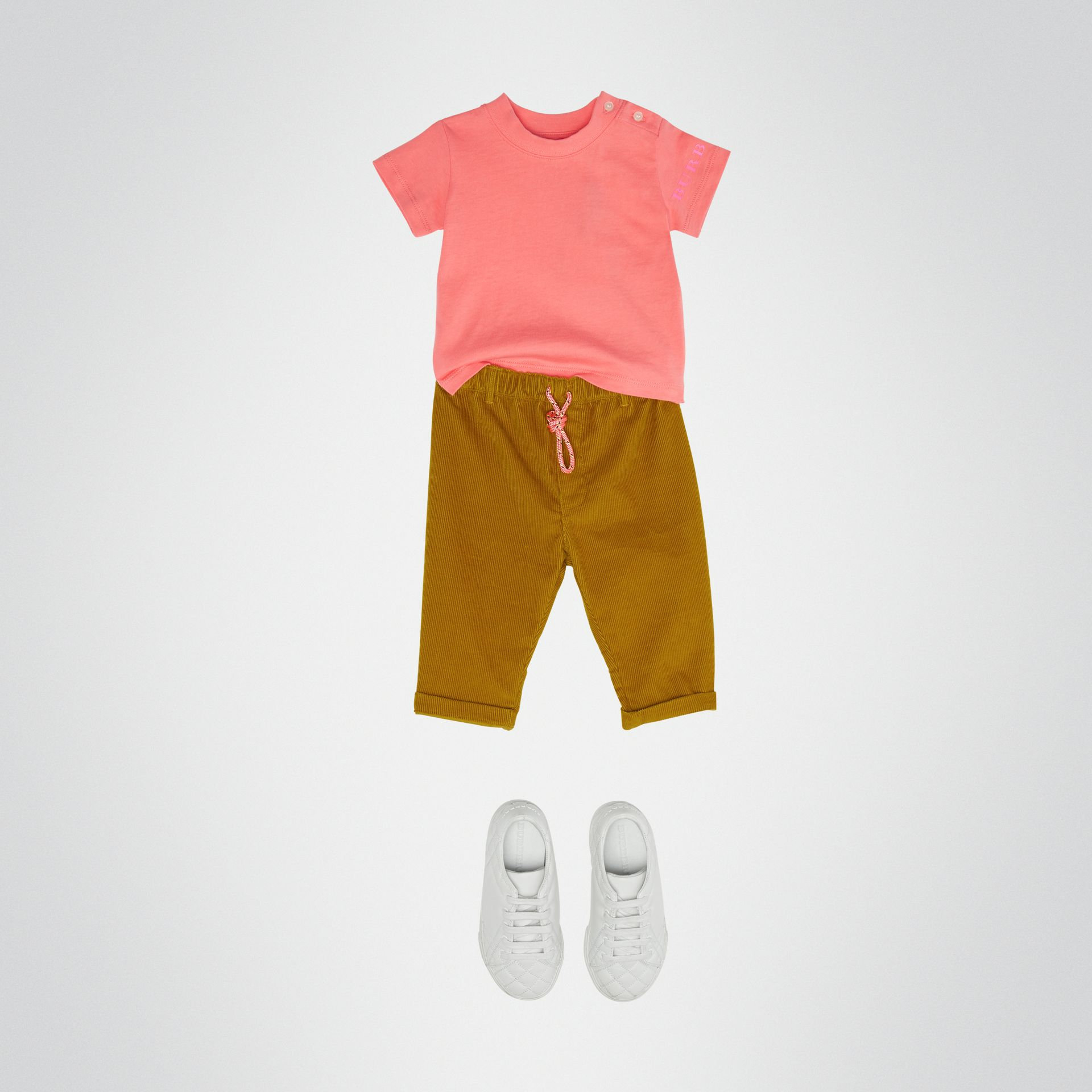 T-shirt en coton avec logo imprimé (Rose Vif) - Enfant | Burberry - photo de la galerie 2