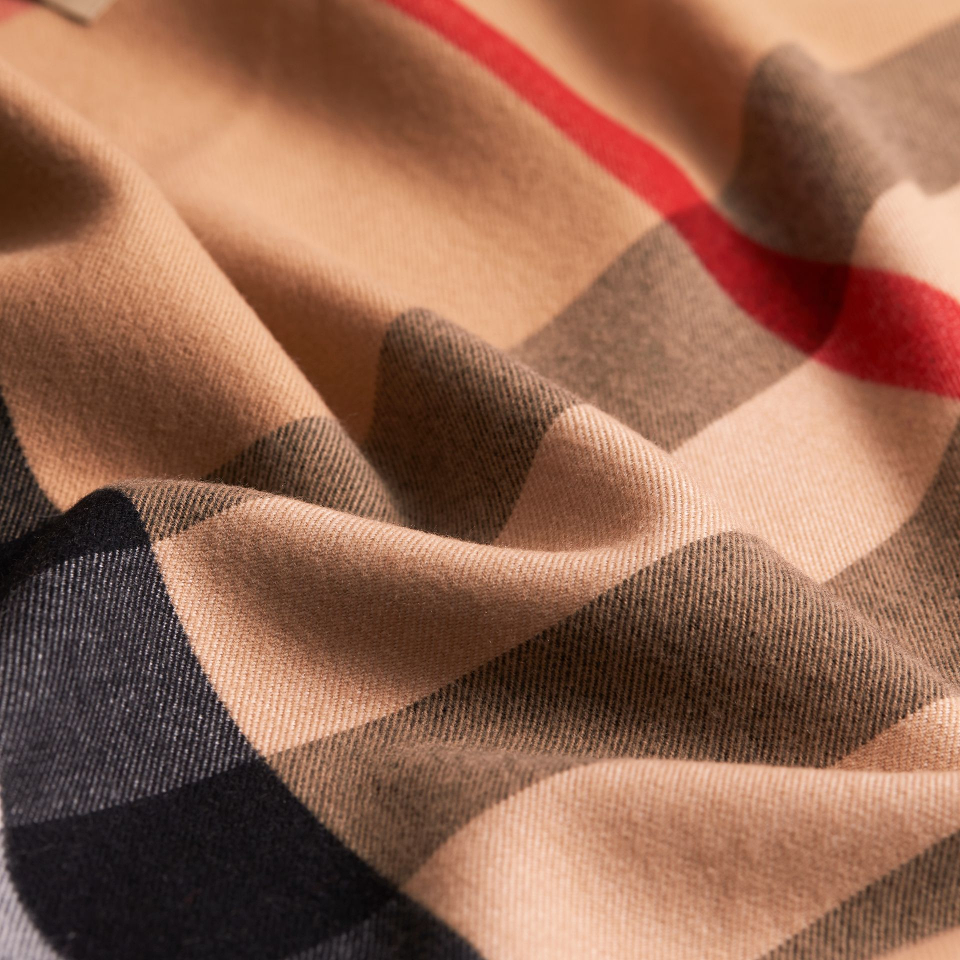 Merino Wool Poncho in Camel - Women | Burberry - gallery image 2