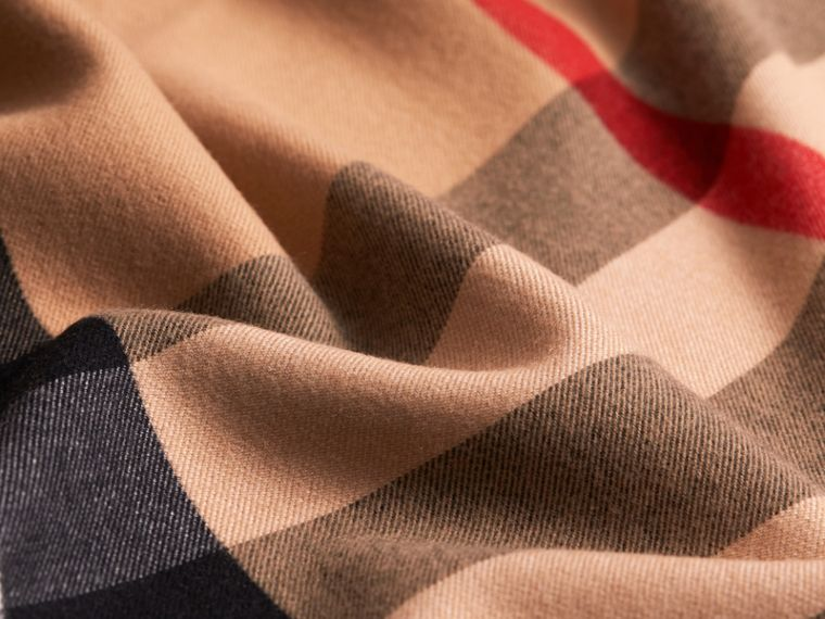 Merino Wool Poncho in Camel - Women | Burberry - cell image 1