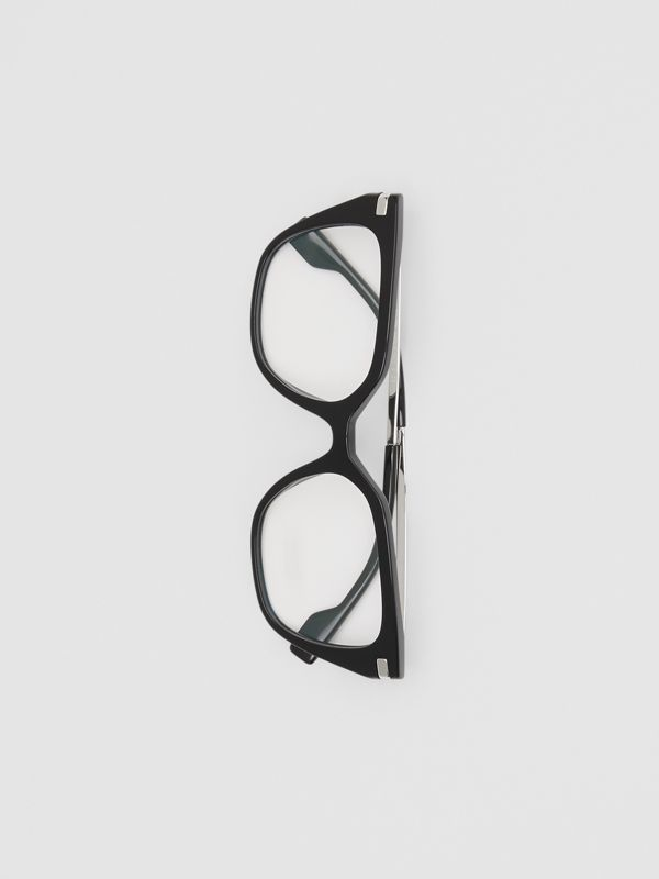 Monogram Motif Square Optical Frames in Black - Women | Burberry Canada - cell image 3