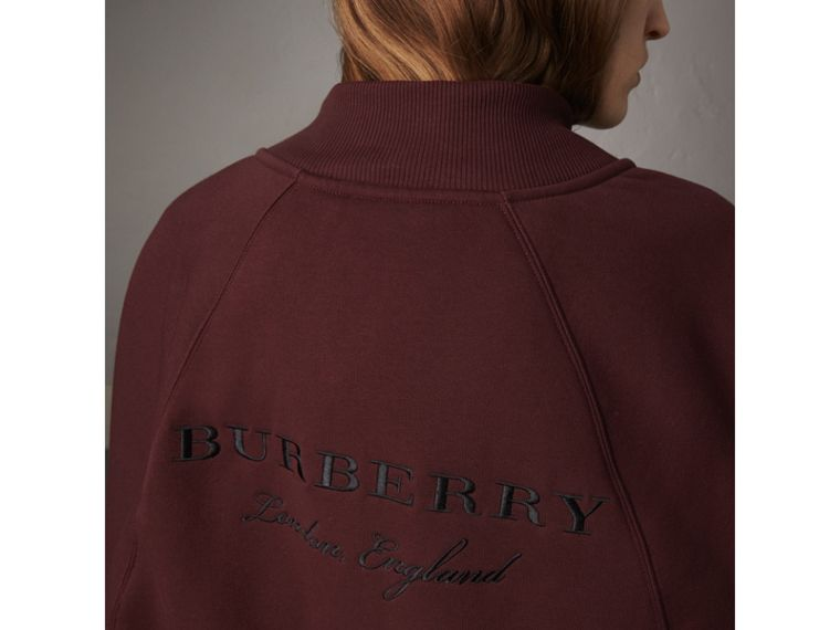 Embroidered Jersey Cape in Deep Claret - Women | Burberry - cell image 1