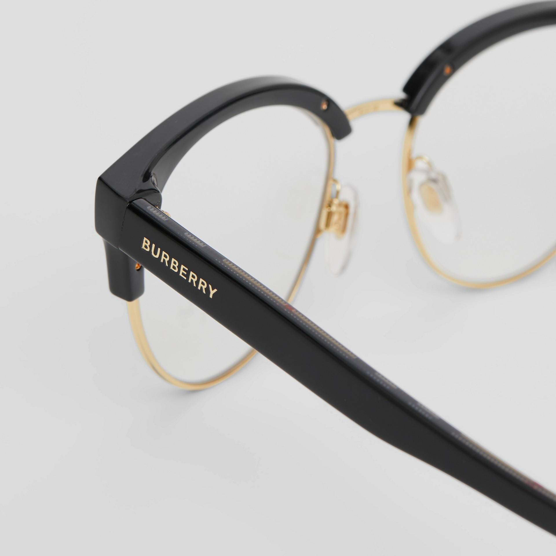 Cat-eye Optical Frames in Black/beige - Women | Burberry Australia - gallery image 1