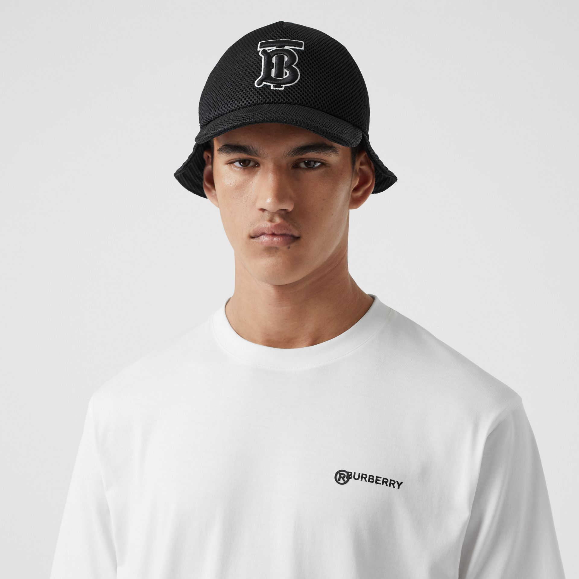 Location Print Cotton Oversized T-shirt in White - Men | Burberry United Kingdom - gallery image 0