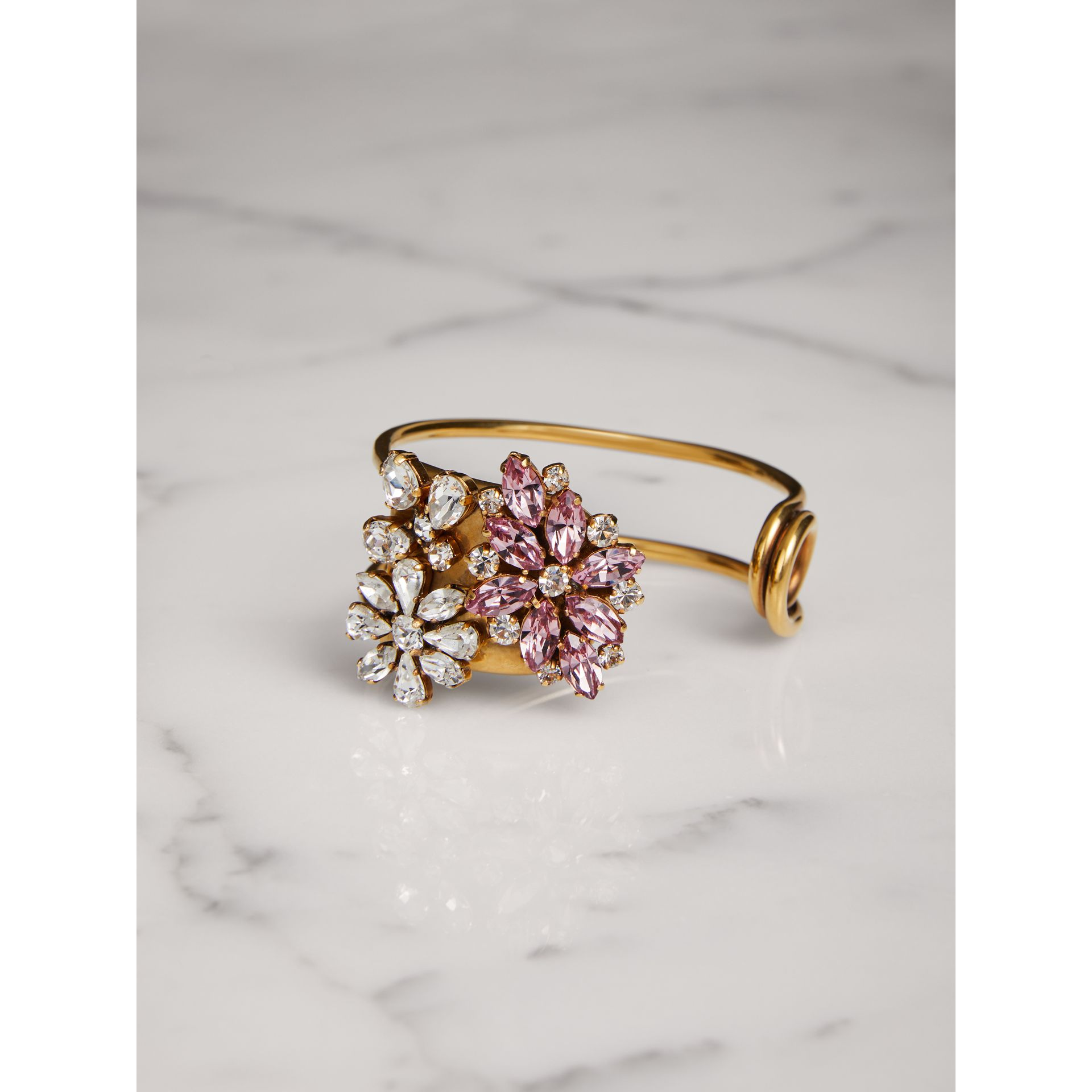 Crystal Daisy Brass Cuff - Women | Burberry - gallery image 0