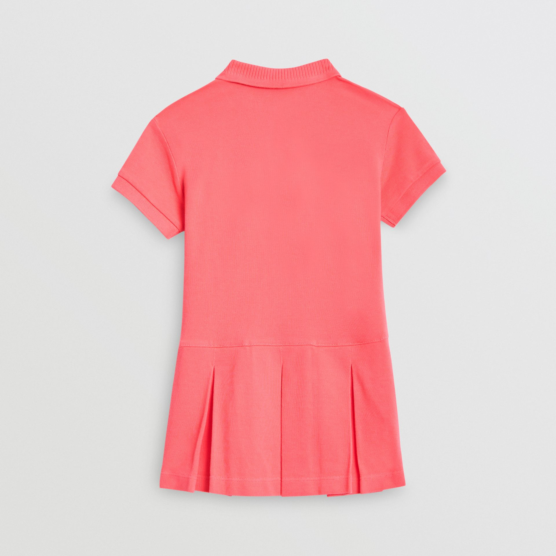 EKD Logo Cotton Polo Dress in Bright Pink | Burberry - gallery image 3