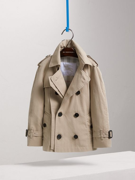 Tropical Gabardine Trench Jacket in Light Taupe | Burberry - cell image 2