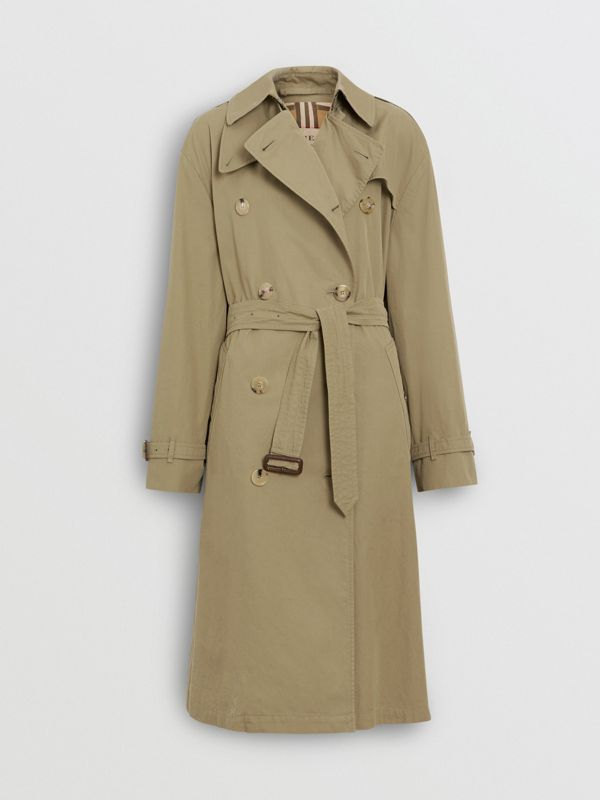 Relaxed Fit Tropical Gabardine Trench Coat in Vintage Green - Women | Burberry United States - cell image 3