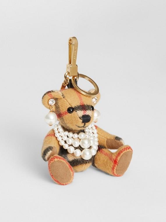Bijou Thomas Bear avec perles de synthèse (Jaune Antique)