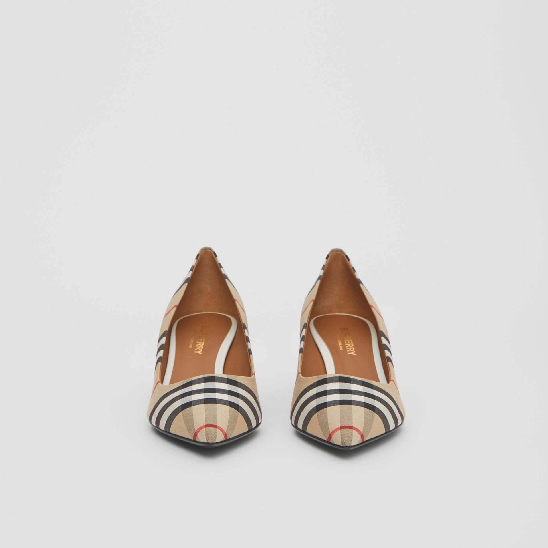 Vintage Check Cotton Pumps in Archive Beige - Women | Burberry United Kingdom - gallery image 2