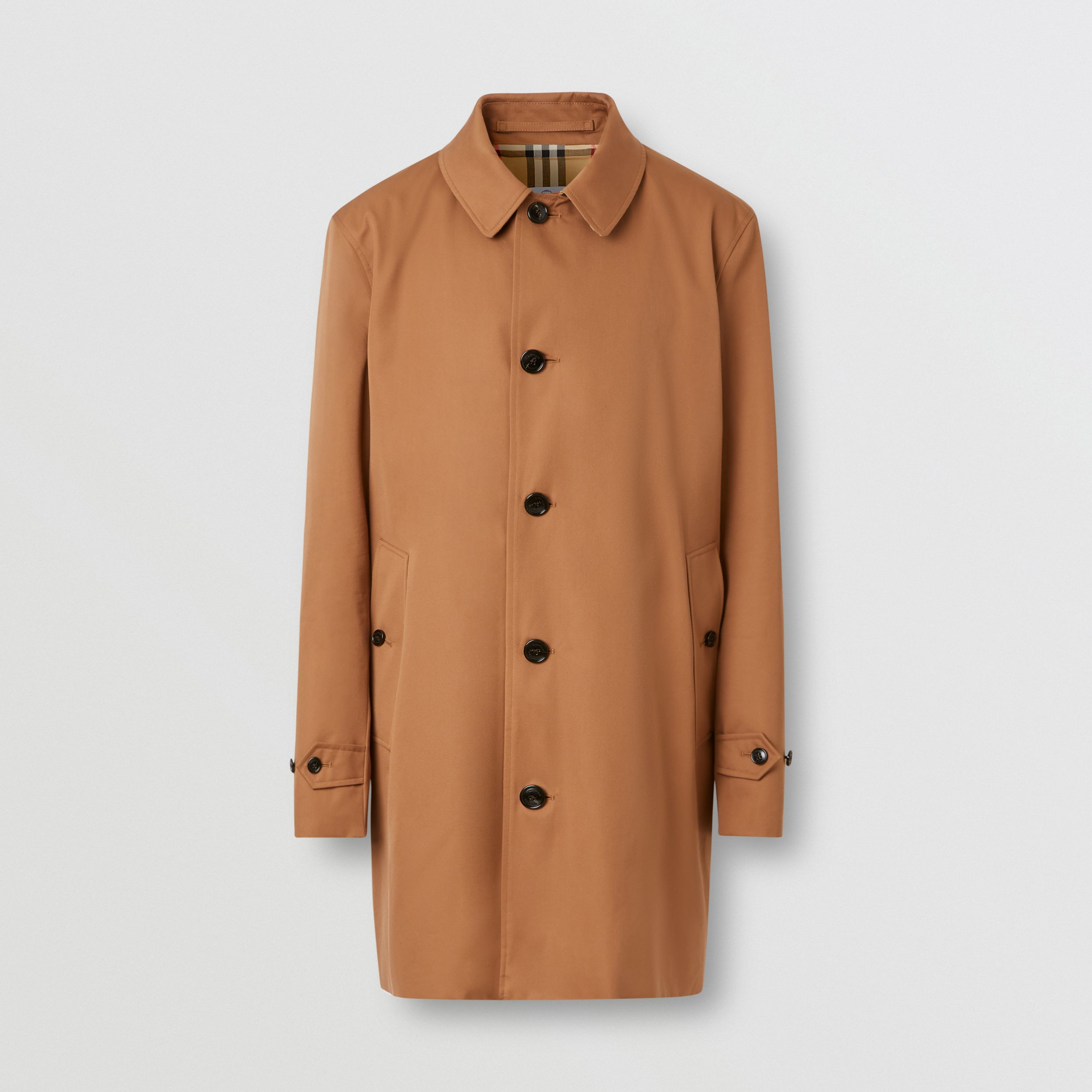 Organic Cotton Gabardine Car Coat in Dusty Caramel - Men | Burberry - 4