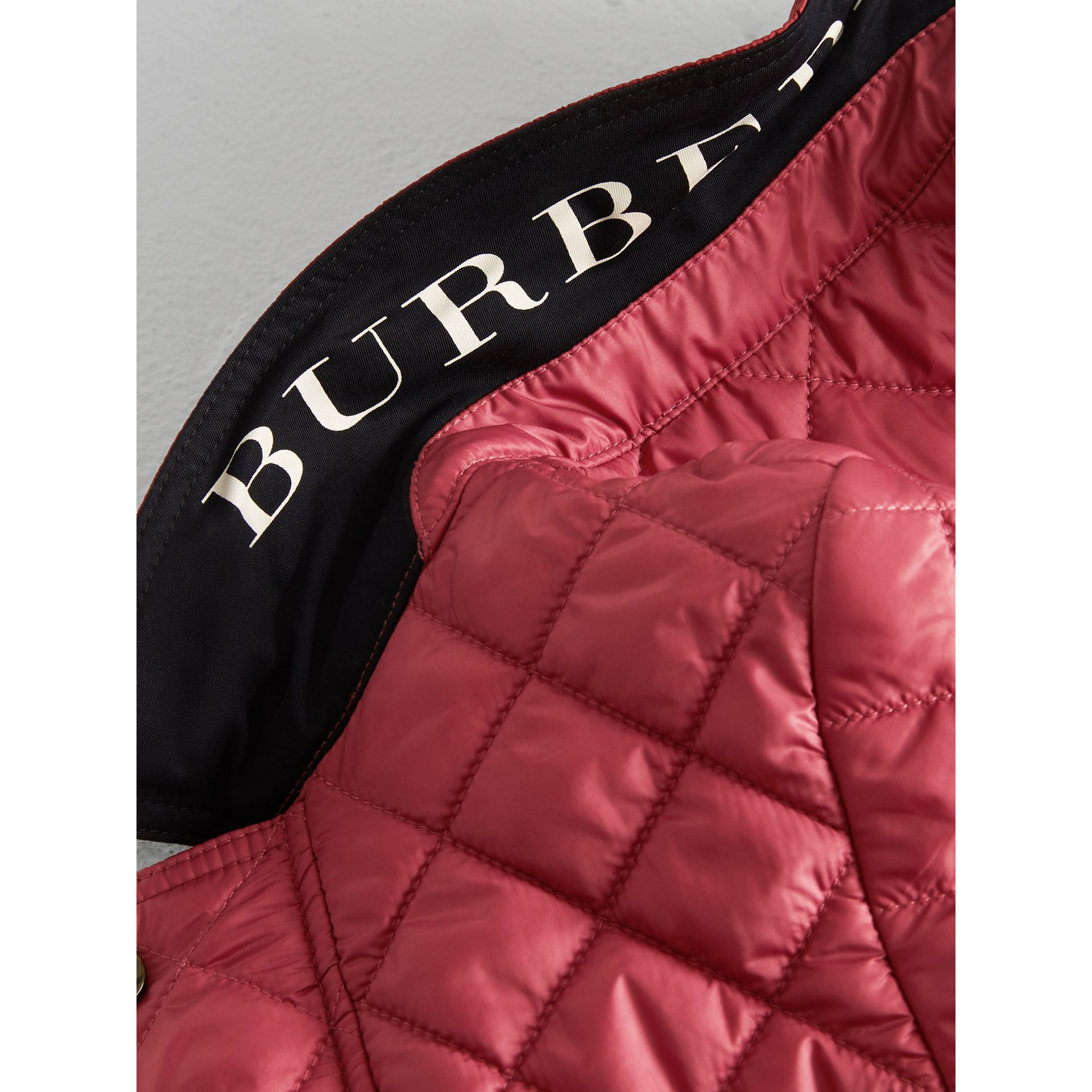 Lightweight Diamond Quilted Jacket in Peony Rose | Burberry - gallery image 1