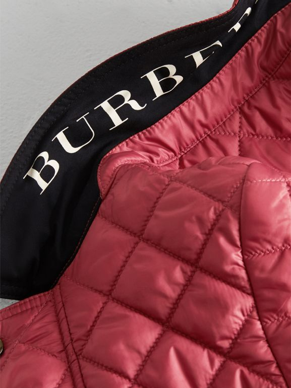 Lightweight Diamond Quilted Jacket in Peony Rose | Burberry Canada - cell image 1