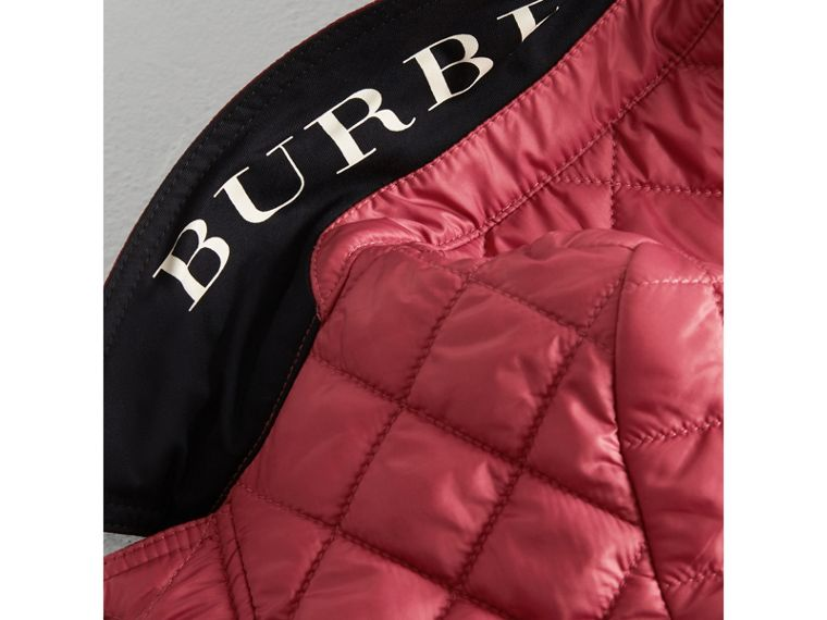 Lightweight Diamond Quilted Jacket in Peony Rose - Girl | Burberry United Kingdom - cell image 1
