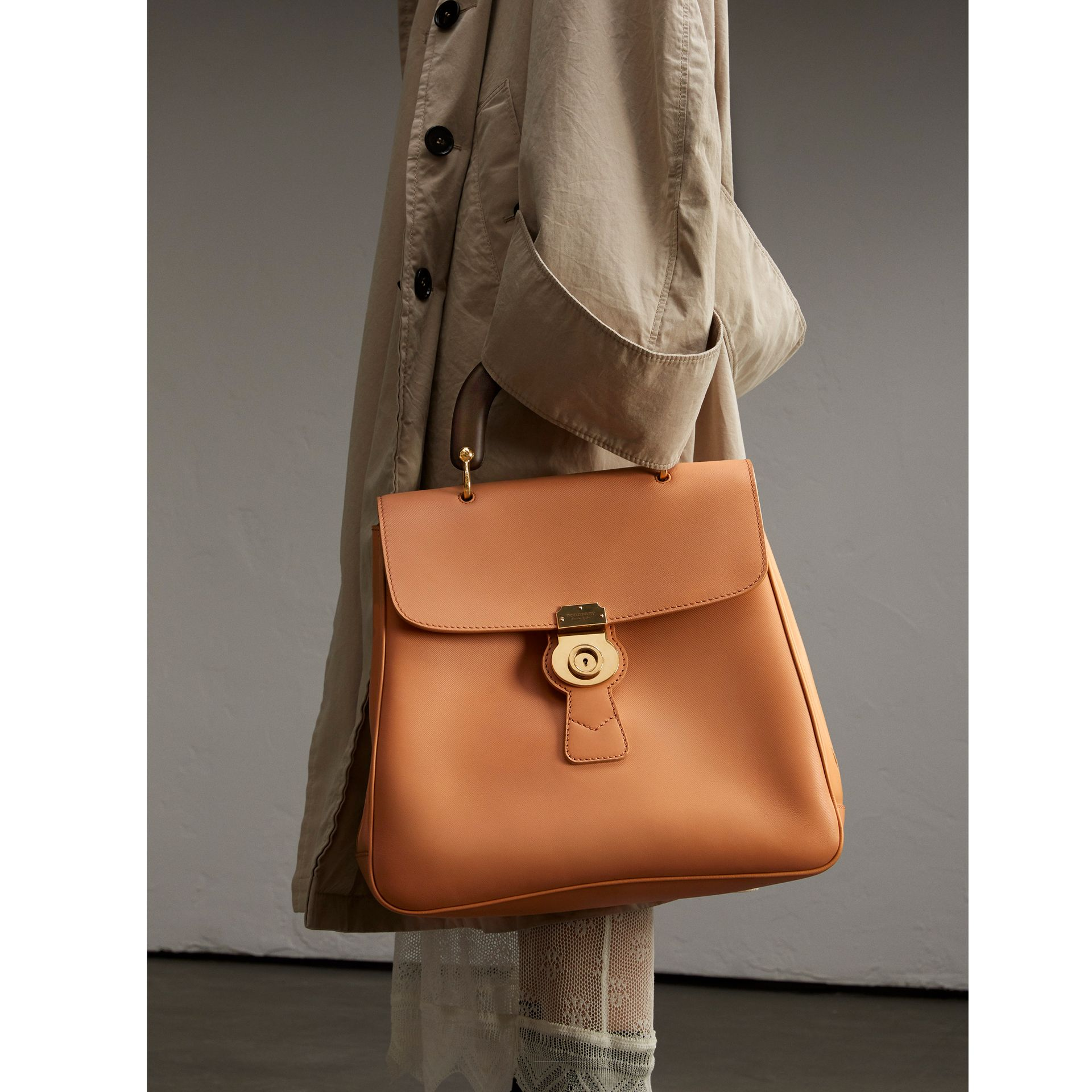 The Large DK88 Top Handle Bag in Pale Clementine - Women | Burberry United Kingdom - gallery image 3