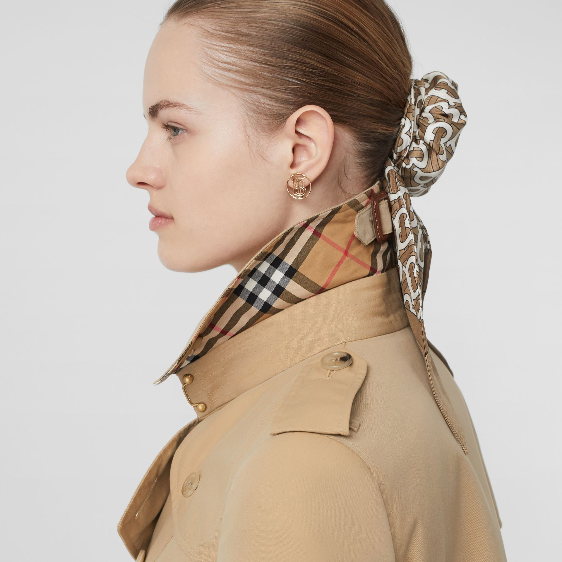 Trench Heritage The Chelsea (Miel) - Femme | Burberry - photo de la galerie 4