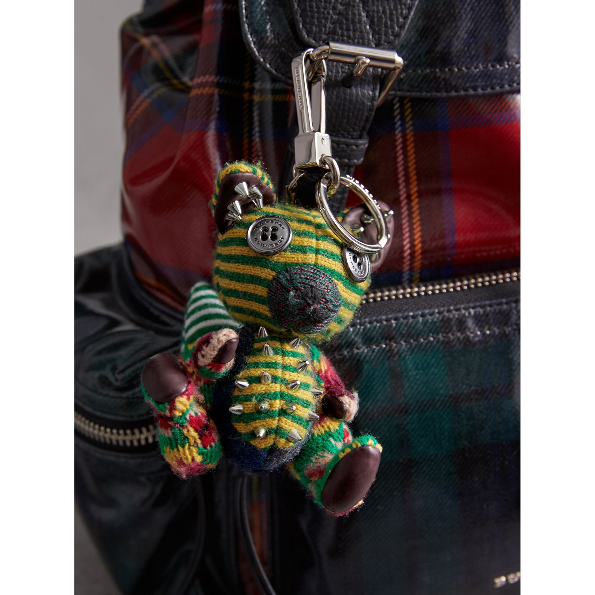 Dave The Fox Cashmere Charm in Green | Burberry - gallery image 3