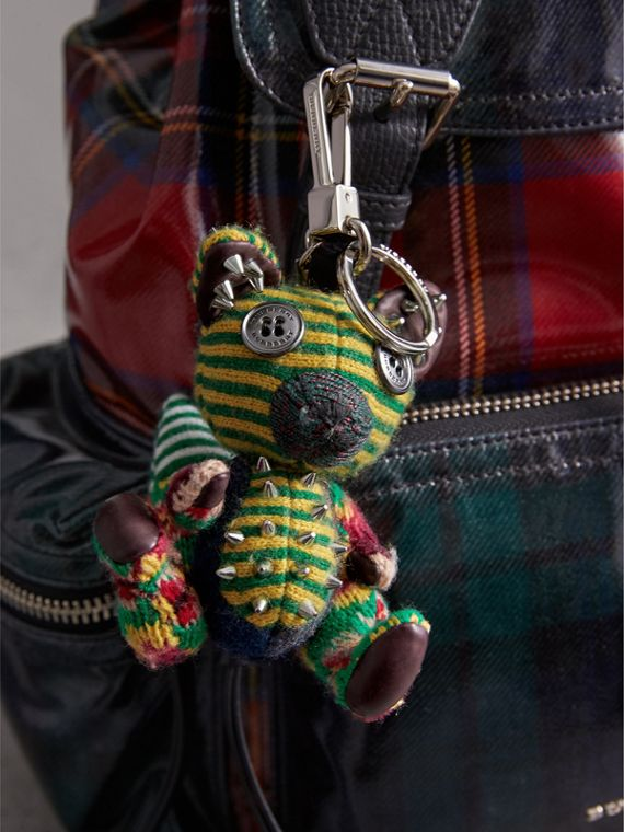 Dave The Fox Cashmere Charm in Green | Burberry United States - cell image 2