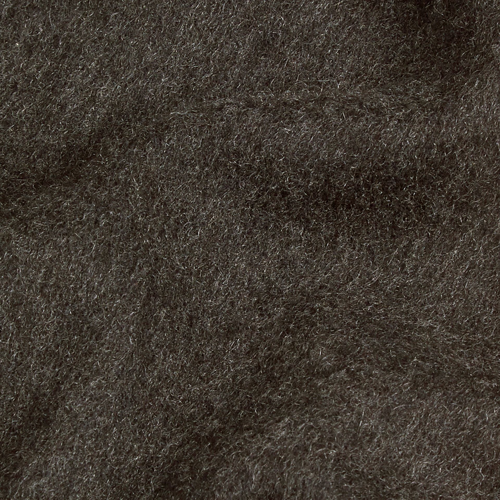 Charcoal The Classic Cashmere Scarf Charcoal - gallery image 5