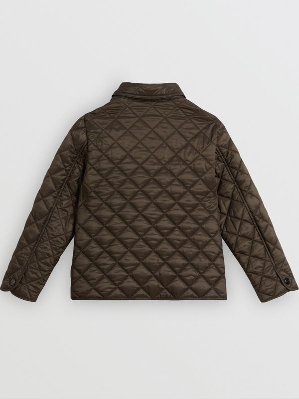 Lightweight Diamond Quilted Jacket in Oregano | Burberry Australia - cell image 3